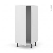Colonne de cuisine N°27 - Armoire frigo encastrable - GINKO Blanc - 1 porte - L60 x H125 x P58 cm