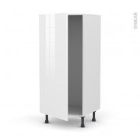 Colonne de cuisine N°27 - Armoire frigo encastrable - STECIA Blanc - 1 porte - L60 x H125 x P58 cm