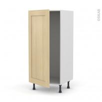 BASILIT Bois Vernis - Armoire frigo N°27  - 1 porte - L60xH125xP58