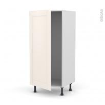 Colonne de cuisine N°27 - Armoire frigo encastrable - FILIPEN Ivoire - 1 porte - L60 x H125 x P58 cm