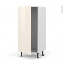 Colonne de cuisine N°27 - Armoire frigo encastrable - KERIA Ivoire - 1 porte - L60 x H125 x P58 cm