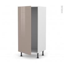 Colonne de cuisine N°27 - Armoire frigo encastrable - KERIA Moka - 1 porte - L60 x H125 x P58 cm