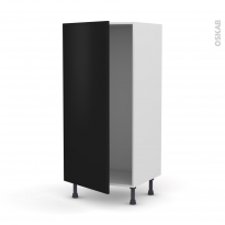 Colonne de cuisine N°27 - Armoire frigo encastrable - GINKO Noir - 1 porte - L60 x H125 x P58 cm