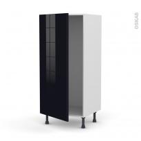 Colonne de cuisine N°27 - Armoire frigo encastrable - KERIA Noir - 1 porte - L60 x H125 x P58 cm