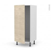 Colonne de cuisine N°27 - Armoire frigo encastrable - STILO Noyer Blanchi - 1 porte - L60 x H125 x P58 cm
