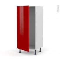 Colonne de cuisine N°27 - Armoire frigo encastrable - STECIA Rouge - 1 porte - L60 x H125 x P58 cm