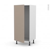 Colonne de cuisine N°27 - Armoire frigo encastrable - GINKO Taupe - 1 porte - L60 x H125 x P58 cm