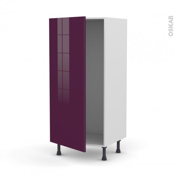 KERIA Aubergine - Armoire frigo N°27  - 1 porte - L60xH125xP58