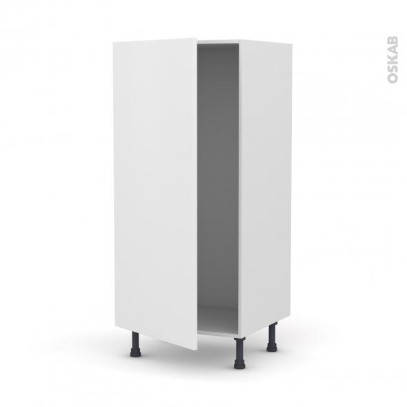 GINKO Blanc - Armoire frigo N°27  - 1 porte - L60xH125xP58