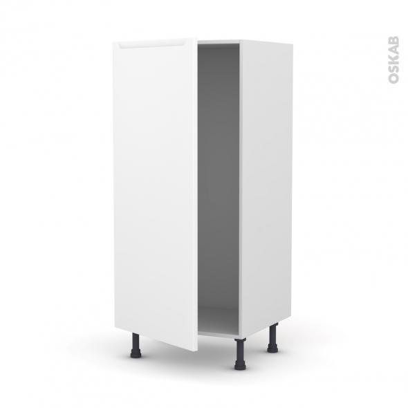 Colonne de cuisine N°27 - Armoire frigo encastrable - PIMA Blanc - 1 porte - L60 x H125 x P58 cm