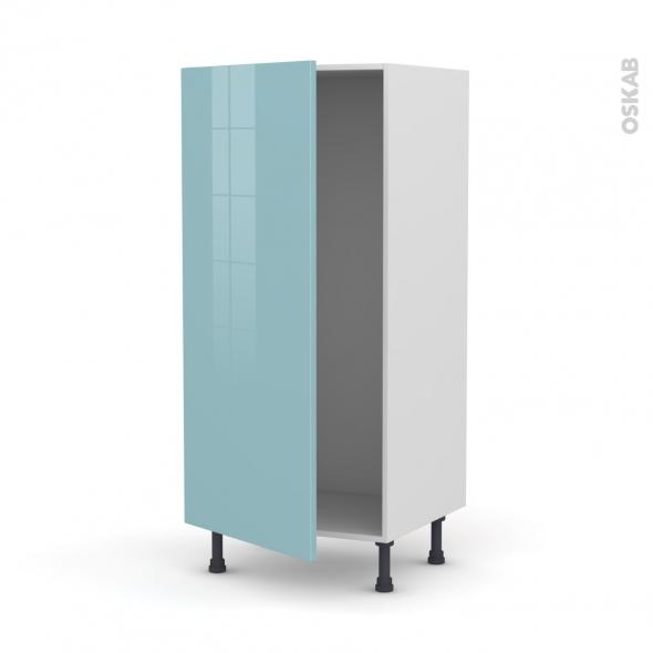 Colonne de cuisine N°27 - Armoire frigo encastrable - KERIA Bleu - 1 porte - L60 x H125 x P58 cm