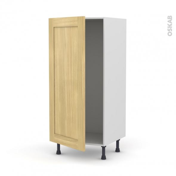 BASILIT Bois Brut - Armoire frigo N°27  - 1 porte - L60xH125xP58