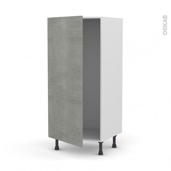 Colonne de cuisine N°27 - Armoire frigo encastrable - FAKTO Béton - 1 porte - L60 x H125 x P58 cm