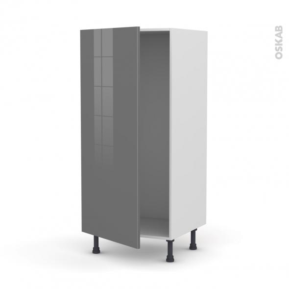 Colonne de cuisine N°27 - Armoire frigo encastrable - STECIA Gris - 1 porte - L60 x H125 x P58 cm