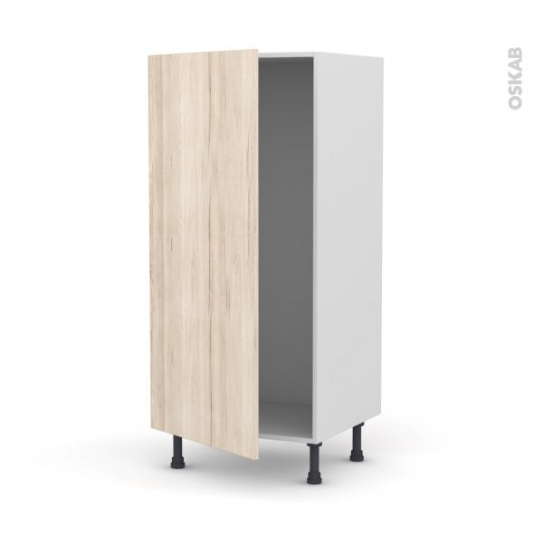 IKORO Chêne clair - Armoire frigo N°27  - 1 porte - L60xH125xP58