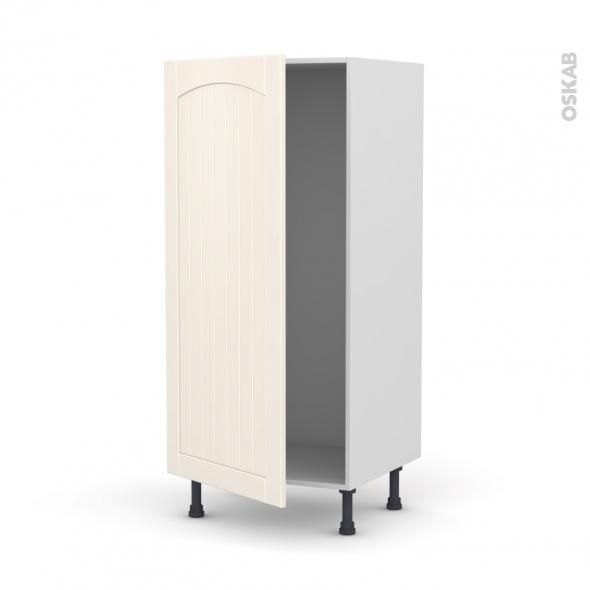 SILEN Ivoire - Armoire frigo N°27  - 1 porte - L60xH125xP58