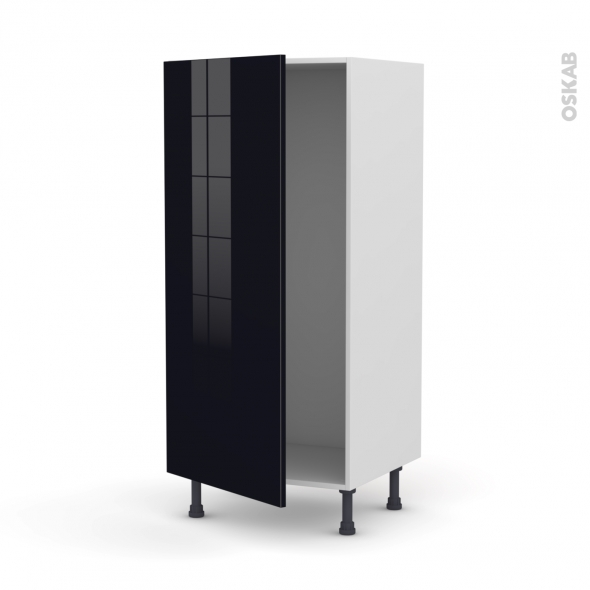 KERIA Noir - Armoire frigo N°27  - 1 porte - L60xH125xP58