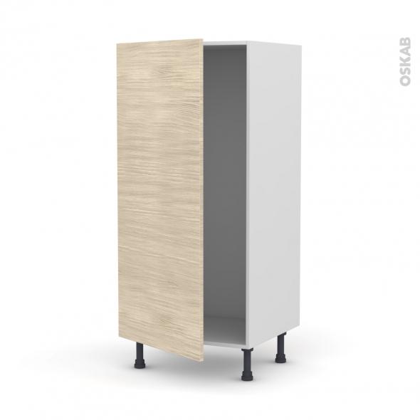 STILO Noyer Blanchi - Armoire frigo N°27  - 1 porte - L60xH125xP58