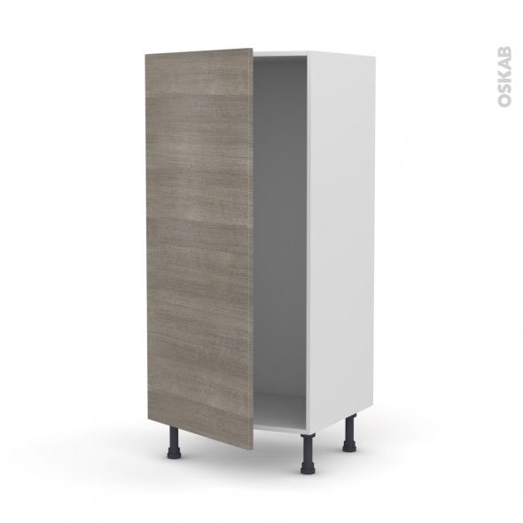 STILO Noyer Naturel - Armoire frigo N°27  - 1 porte - L60xH125xP58