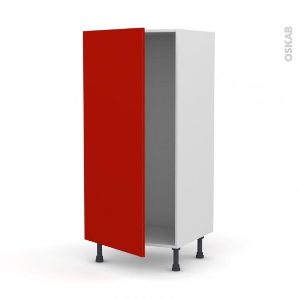 GINKO Rouge - Armoire frigo N°27  - 1 porte - L60xH125xP58