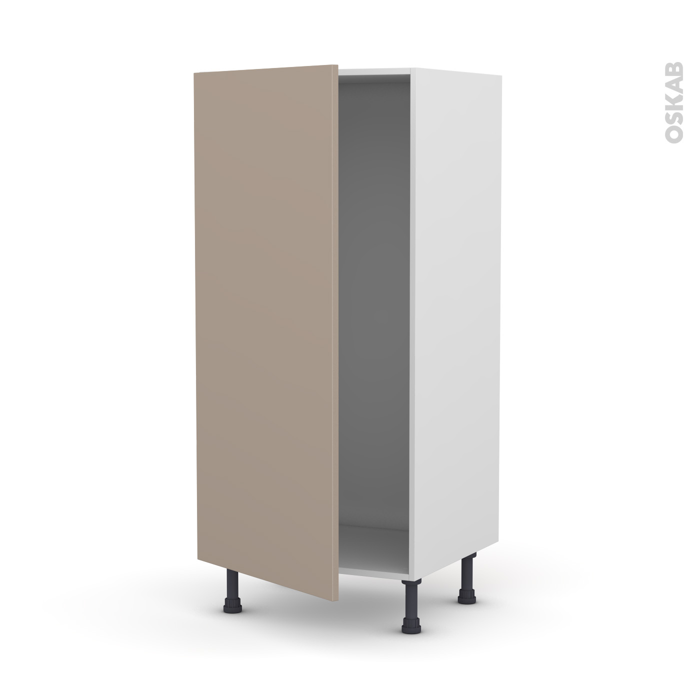 Dimension Frigo Encastrable Ikea colonne de cuisine n°27 armoire frigo encastrable ginko taupe, 1 porte, l60  x h125 x p58 cm