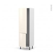 IRIS Ivoire - Armoire frigo N°2721  - 2 portes - L60xH195xP58