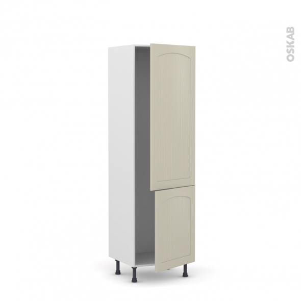 SILEN Argile - Armoire frigo N°2721  - 2 portes - L60xH195xP58 - droite