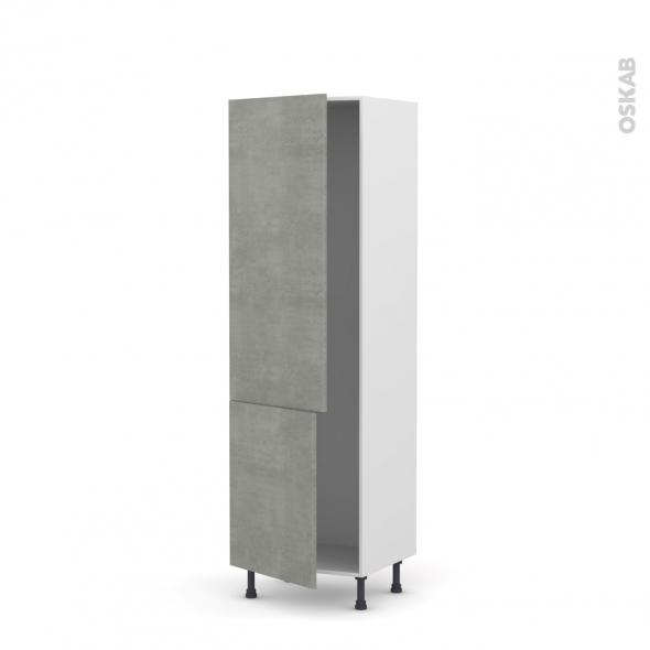 FAKTO Béton - Armoire frigo N°2721  - 2 portes - L60xH195xP58