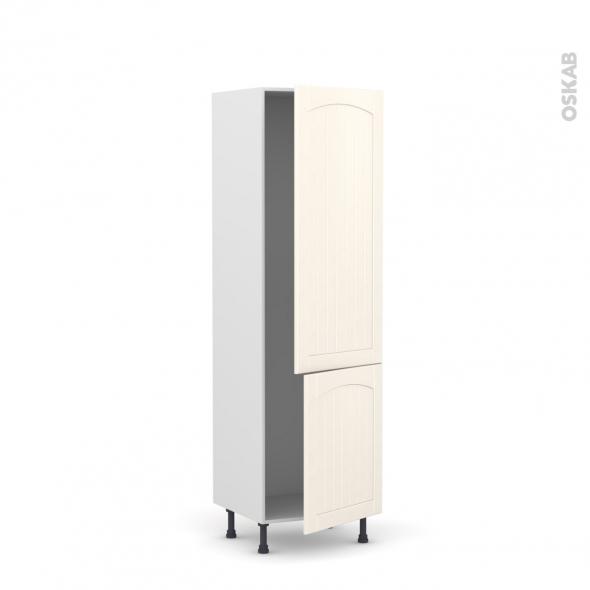 SILEN Ivoire - Armoire frigo N°2721  - 2 portes - L60xH195xP58 - droite