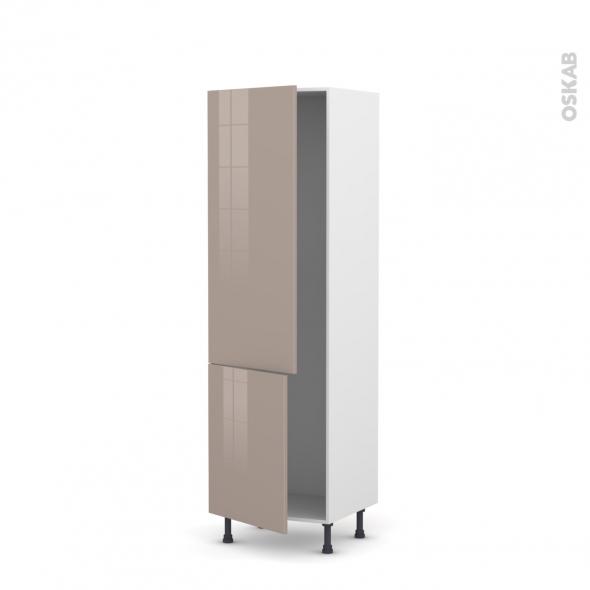 KERIA Moka - Armoire frigo N°2721  - 2 portes - L60xH195xP58