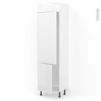 Colonne de cuisine N°2721 - Frigo 2 portes encastrables - IRIS Blanc - 2 portes - L60 x H217 x P58 cm
