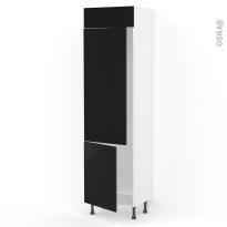 Colonne de cuisine N°2721 - Frigo 2 portes encastrables - GINKO Noir - 2 portes - L60 x H217 x P58 cm
