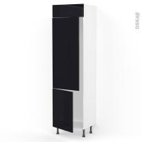 Colonne de cuisine N°2721 - Frigo 2 portes encastrables - KERIA Noir - 2 portes - L60 x H217 x P58 cm