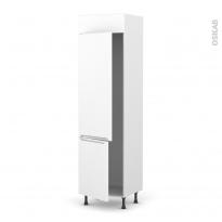 Colonne de cuisine N°2721 - Frigo 2 portes encastrables - PIMA Blanc - 2 portes - L60 x H217 x P58 cm