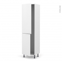 Colonne de cuisine N°2724 - Frigo encastrable 1 porte - GINKO Blanc - 2 portes - L60 x H217 x P58 cm