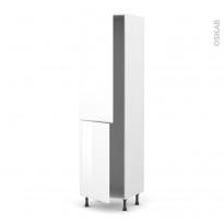 Colonne de cuisine N°2724 - Frigo encastrable 1 porte - IRIS Blanc - 2 portes - L60 x H217 x P58 cm