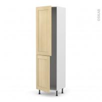 BASILIT Bois Vernis - Armoire frigo N°2724  - 2 portes - L60xH217xP58