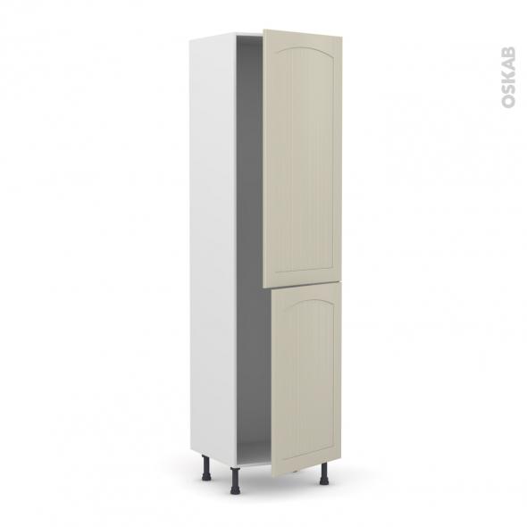 SILEN Argile - Armoire frigo N°2724  - 2 portes - L60xH217xP58 - droite