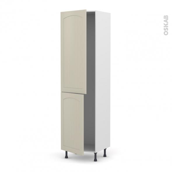 SILEN Argile - Armoire frigo N°2724  - 2 portes - L60xH217xP58 - gauche