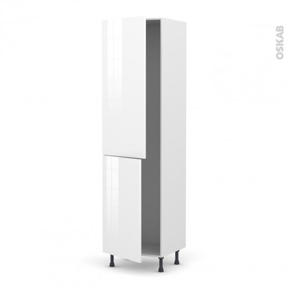 STECIA Blanc - Armoire frigo N°2724  - 2 portes - L60xH217xP58