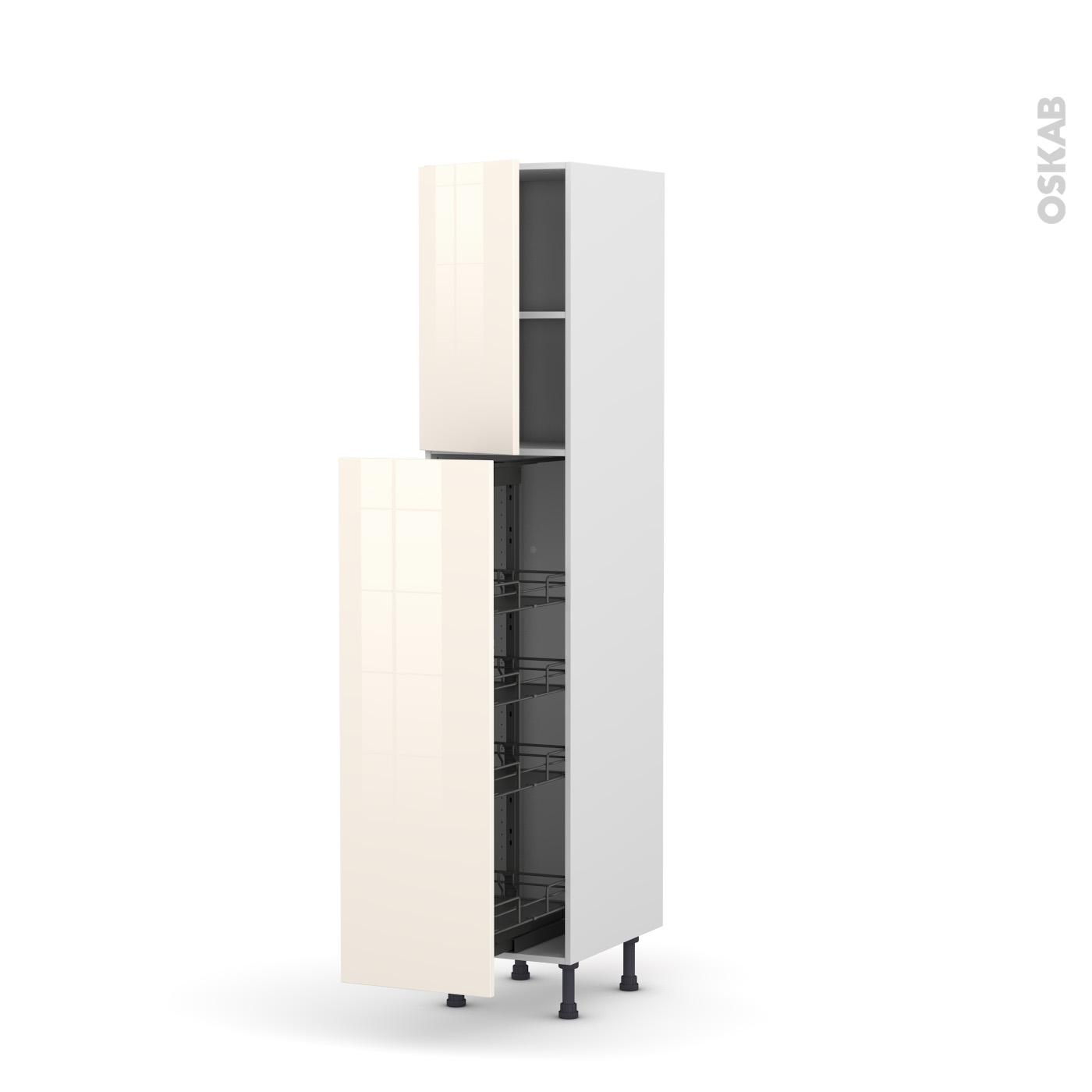 colonne de cuisine n°1926 armoire de rangement keria ivoire 4