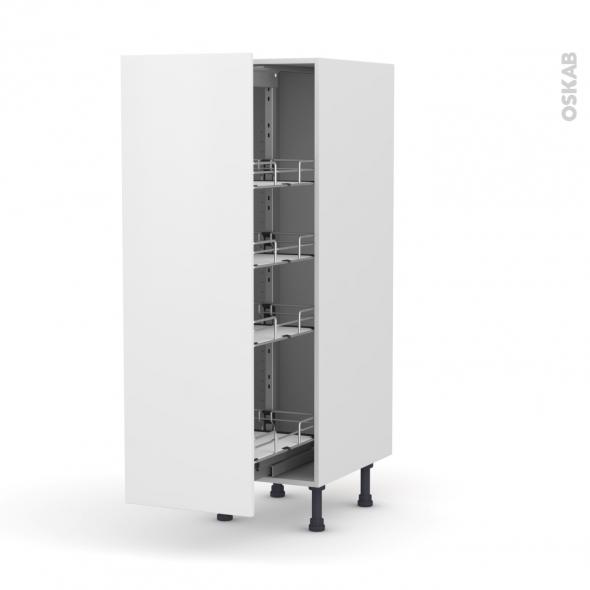 GINKO Blanc - Armoire rangement N°26  - 4 paniers plateaux - L40xH125xP58