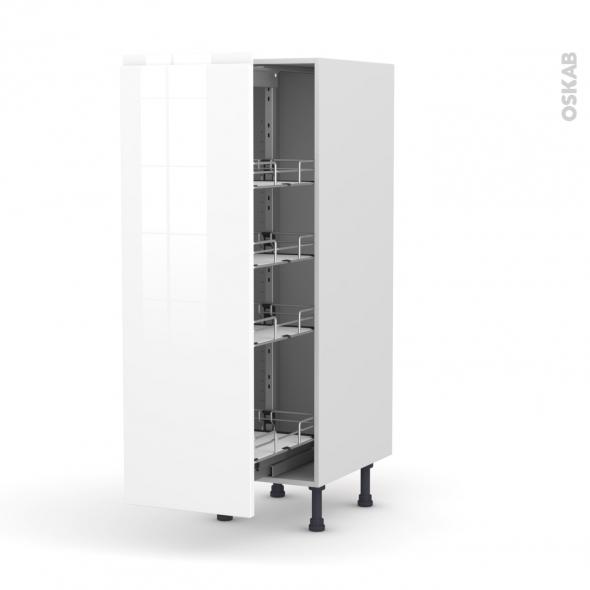 IPOMA Blanc - Armoire rangement N°26  - 4 paniers plateaux - L40xH125xP58