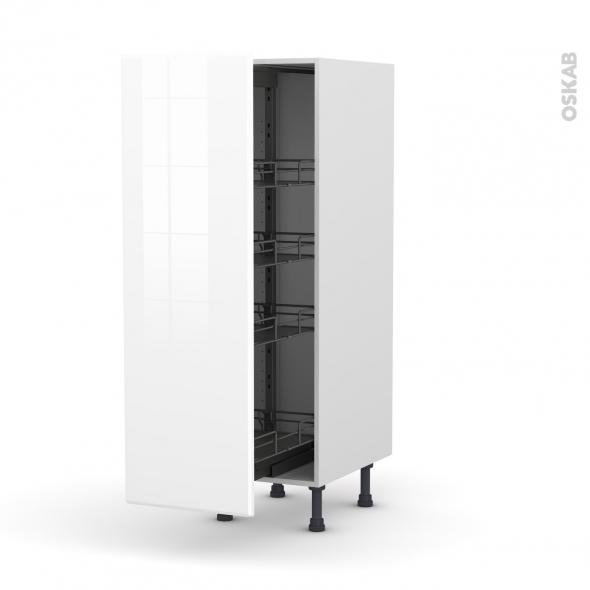 IRIS Blanc - Armoire rangement N°26  - 4 paniers plateaux - L40xH125xP58