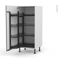 Colonne de cuisine N°27 - Armoire de rangement - GINKO Gris - 8 paniers plateaux - L60 x H125 x P58 cm