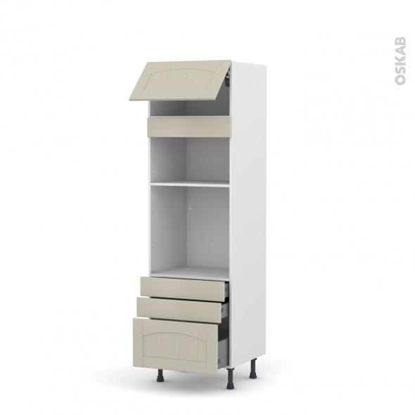 SILEN Argile - Colonne Four+MO 36/38 N°1059  - 1 abattant 3 tiroirs - L60xH195xP58
