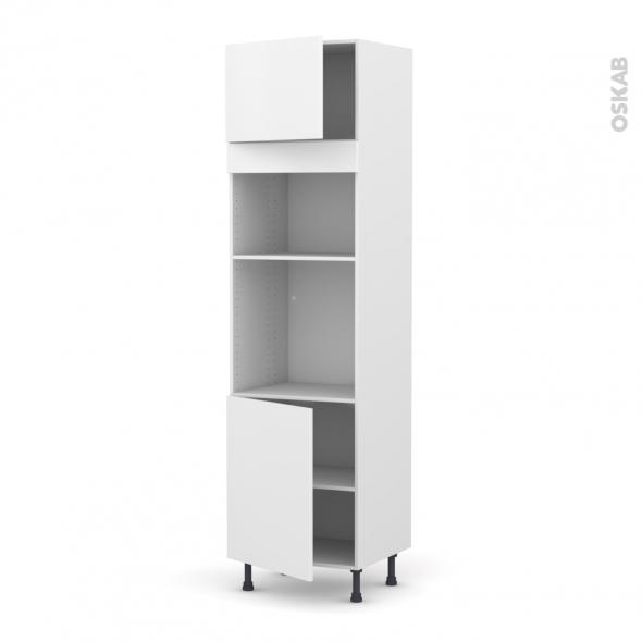 GINKO Blanc - Colonne Four+MO 36/38 N°1321  - 2 portes - L60xH217xP58