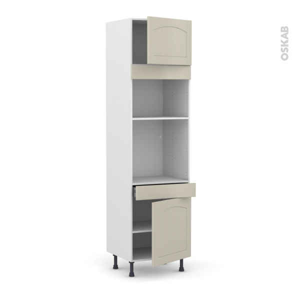 SILEN Argile - Colonne Four+MO 36/38 N°1356  - 2 portes 1 tiroir - L60xH217xP58 - droite
