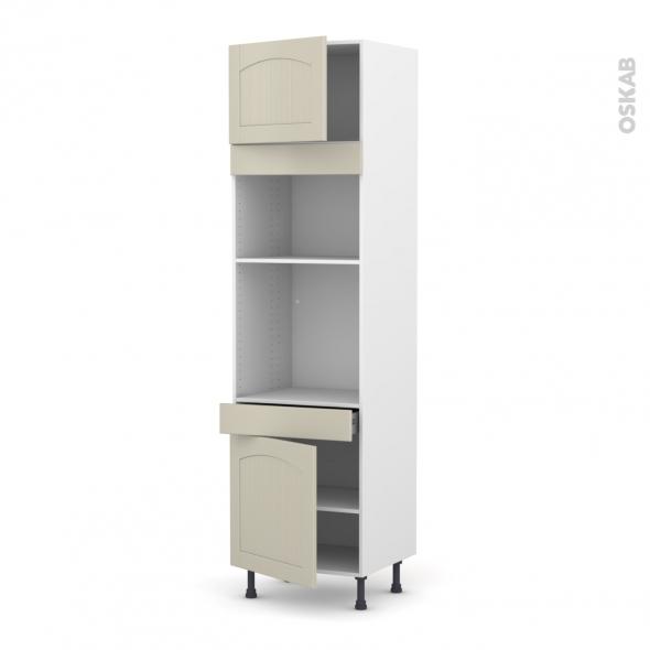 SILEN Argile - Colonne Four+MO 36/38 N°1356  - 2 portes 1 tiroir - L60xH217xP58 - gauche