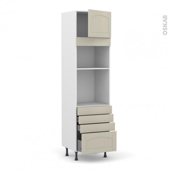 SILEN Argile - Colonne Four+MO 36/38 N°1359  - 1 porte 4 tiroirs - L60xH217xP58 - droite